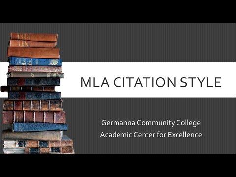 MLA 8th Edition Online Workshop