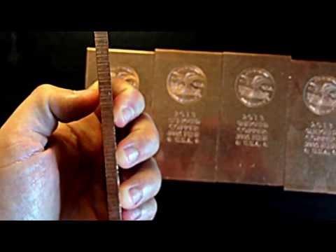 1 Pound Copper Bullion Bars