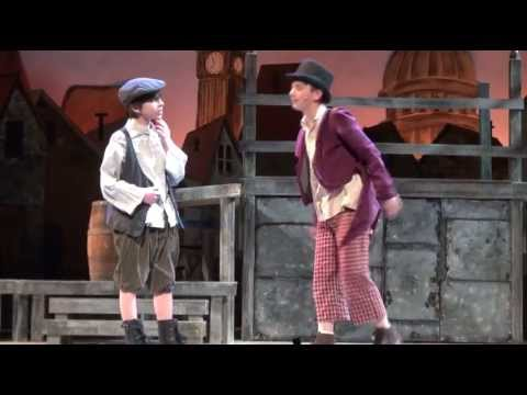 Johnny DiGiorgio as Oliver performing Consider Yourself with the Artful Dodger in Oliver!