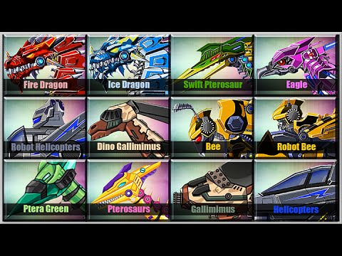 Dino Robot Corps - Air Forces Edition - Android Game Play 1080 HD Game Show