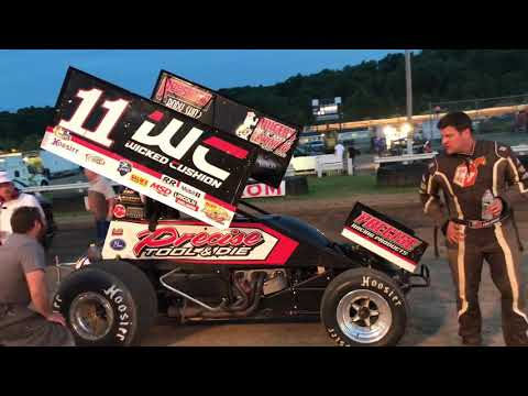 Carl Bowser's Victory Lane Interview from Pittsburgh's Pennsylvania Motor Speedway on 6/8/19