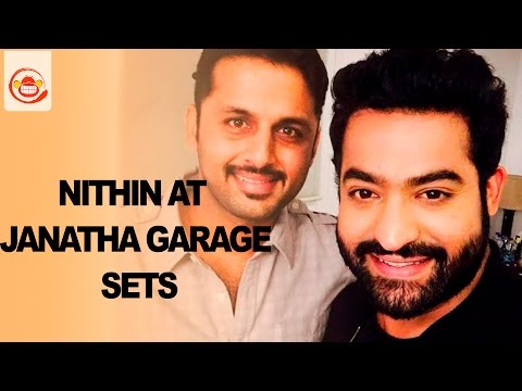 Nithin at Janatha Garage Sets | Jr NTR,...