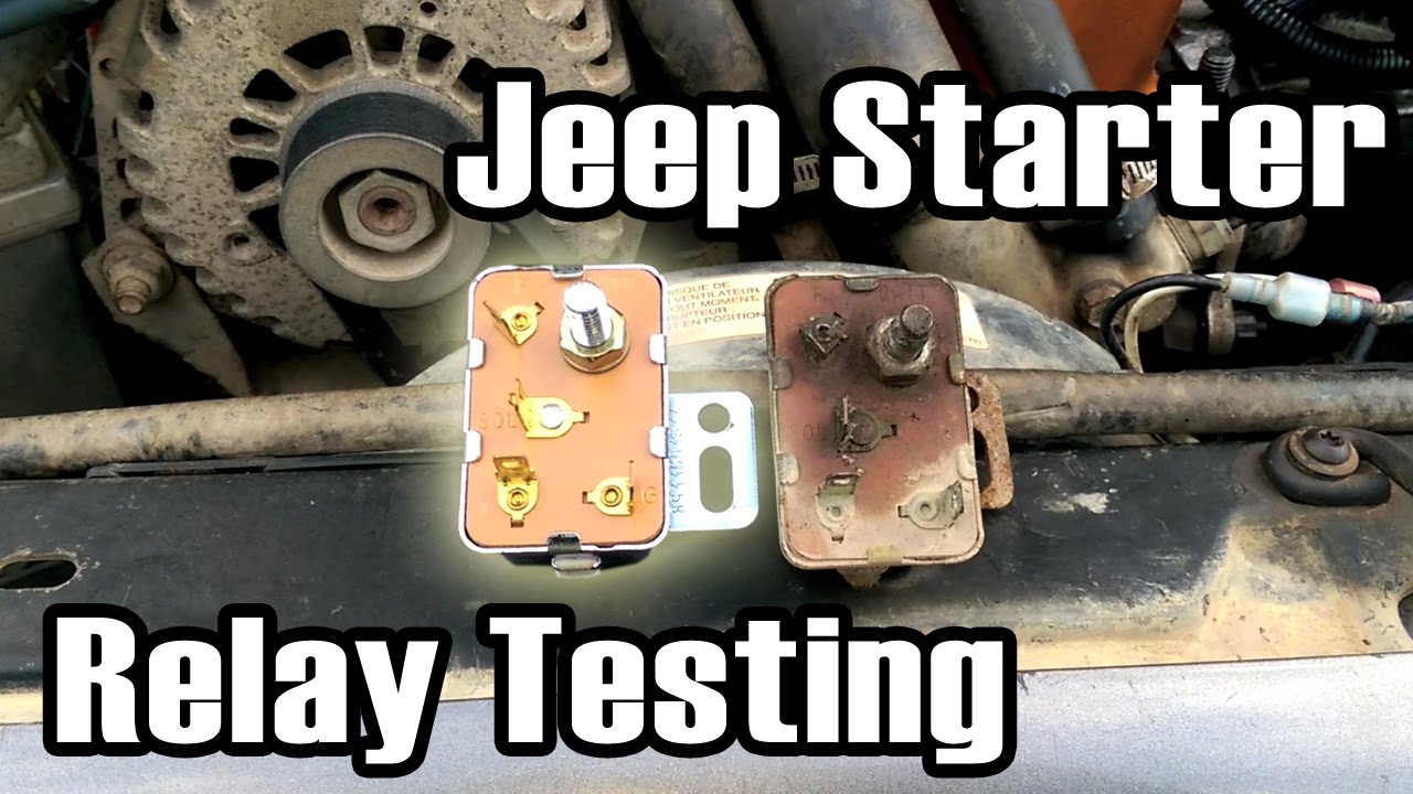 2000 jeep cherokee ignition wiring diagram 95 grand laredo 89 starter relay diagnosis and replacement youtube