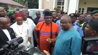 Rochas invades Senators house with over 200 policemen as materials for APC congress disappears