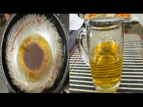 How to clean used oil