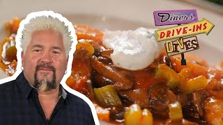 Guy Fieri Tries Dynamite Duck and Potato Pierogies | Diners, Drive-ins and Dives