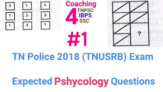 TN POLICE EXAM 2018 (TNUSRB) Expected PSHYCOLOGY Questions with Answer Keys and explanation