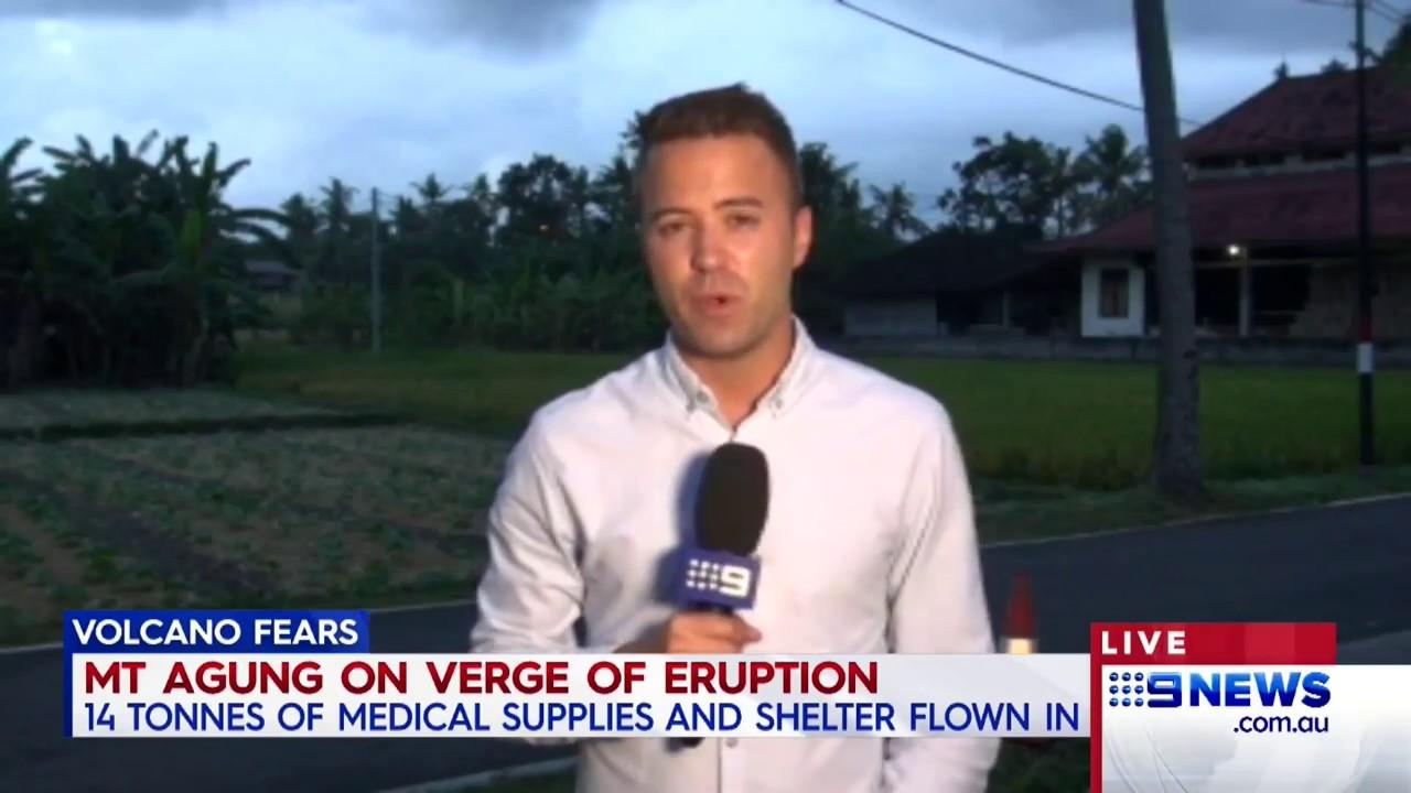 Bali Volcano | 9 News Perth
