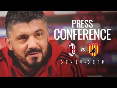 CONFERENZA STAMPA GATTUSO pre MILAN-BENEVENTO del 21/04/18