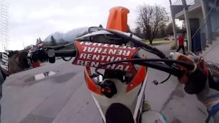 Guy throws rock at biker..   Crazy Angry People vs Bikers