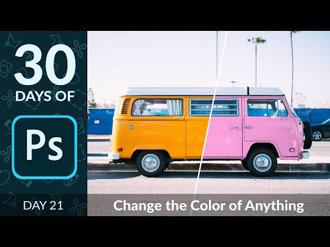How To Change The Color Of Anything In Photoshop | Day 21