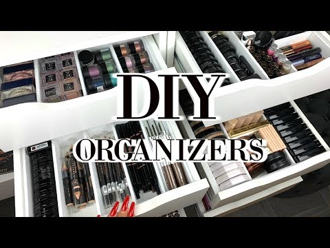 DIY EASY AFFORDABLE MAKEUP ORGANIZERS | DIVIDERS FOR ALEX DRAWERS