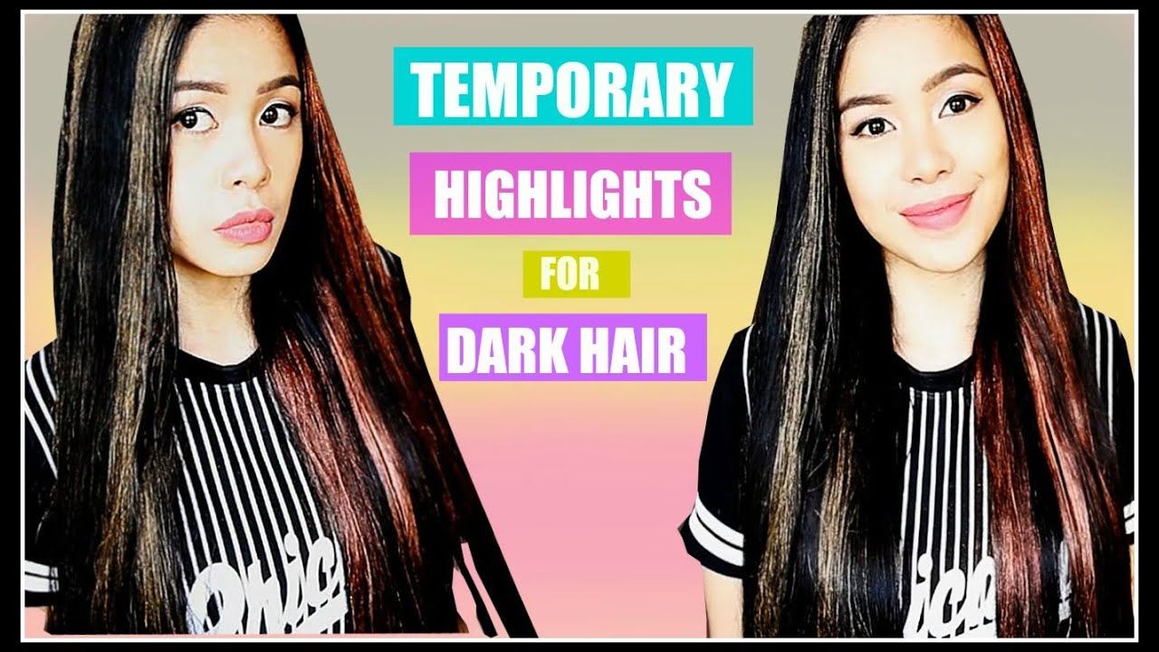 Temporary hair colorhighlights for dark hair that works temporary hair colorhighlights for dark hair that works beautyklove youtube solutioingenieria Choice Image