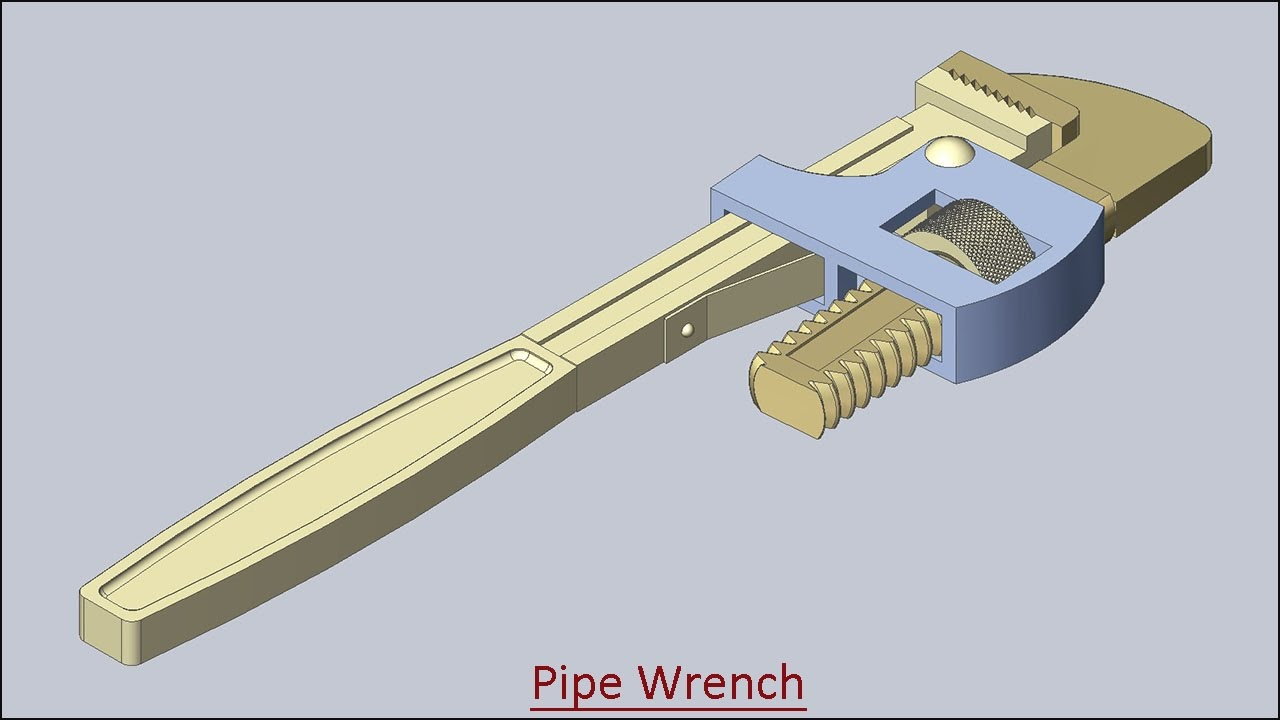 pipe wrench volume 2 solid edge tutorial youtube