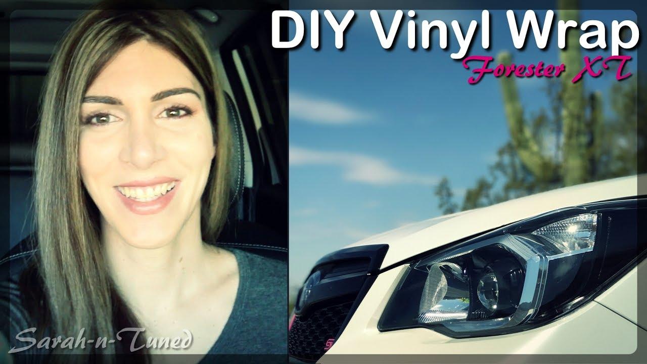 Diy Vinyl Wrap Subaru Forester Xt Youtube