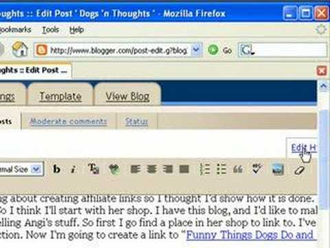 Write a CafePress Affiliate Text Link in a Blog