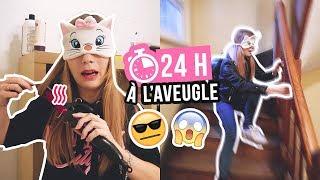 CHALLENGE 24H À L'AVEUGLE LES YEUX BANDÉS *impossible* 🤣