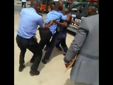 Nigerian Police engage in a fight with Nigerian Defense Academy