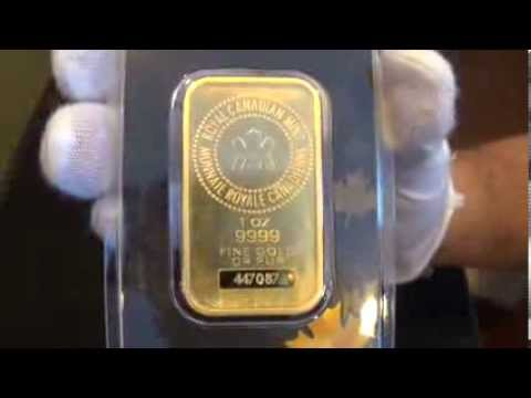 1 Oz Royal Canadian Mint Gold Wafer