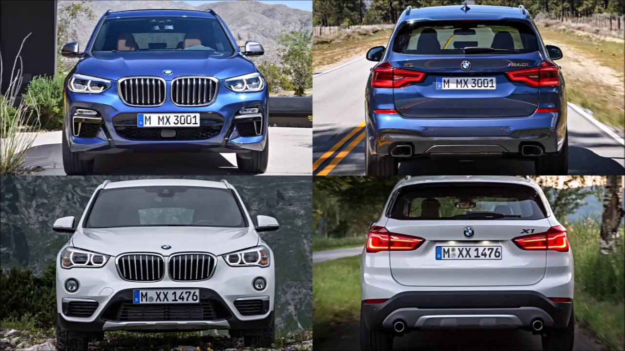 2017 bmw x1 and x3 side by side comparison autos post. Black Bedroom Furniture Sets. Home Design Ideas