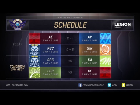 Thumbnail: OPL Split 2 2017 - Week 5 Day 2: AV vs. AE | RGC vs. SIN