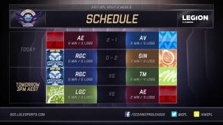 Avant Gaming vs. Abyss Regicide vs. Sin Gaming For more OPL action,...