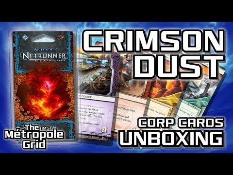 Netrunner Unboxing: Crimson Dust - Corporation Cards