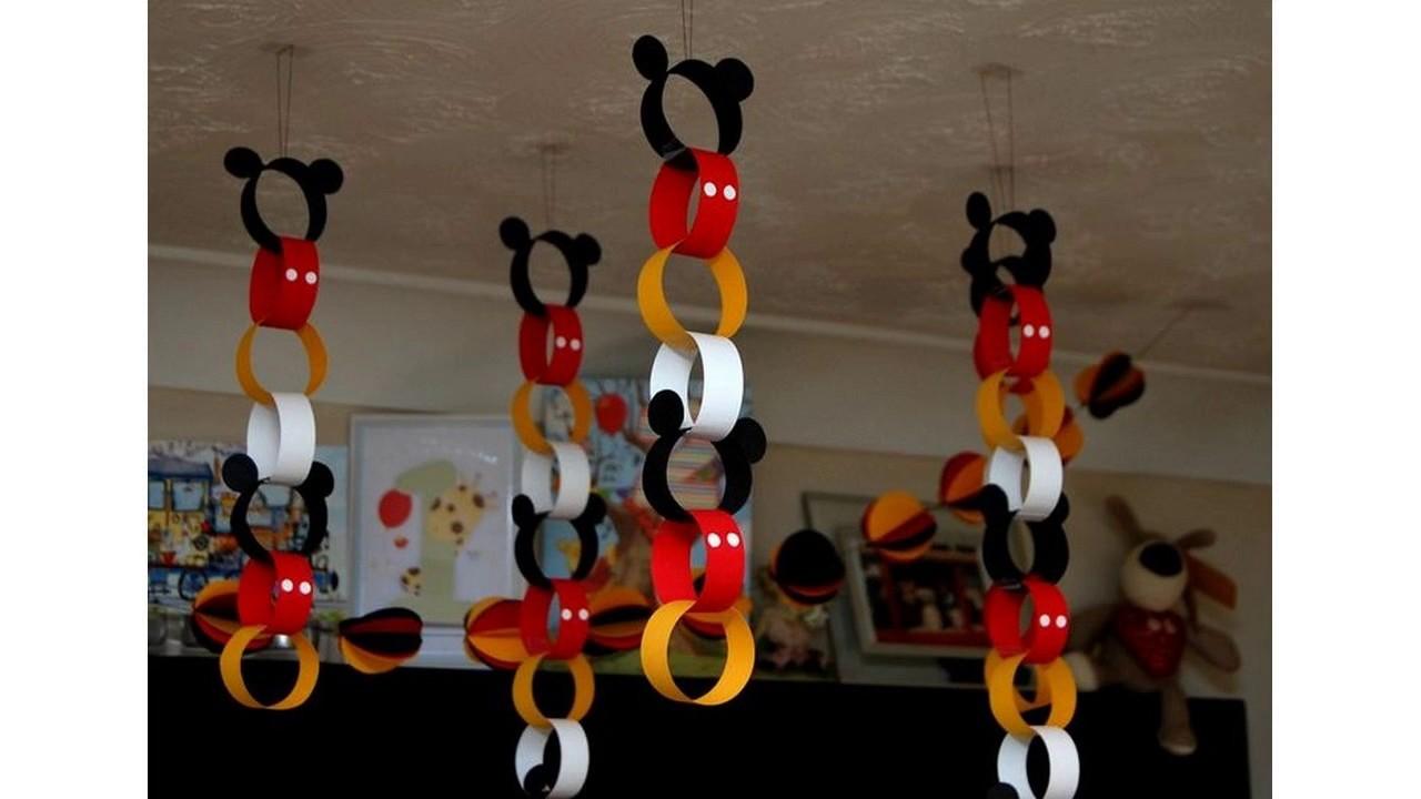 Mickey mouse decoraciones ideas youtube for Adornos navidenos mickey mouse