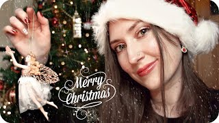 ASMR Fireside Festive Magic🎄 Soft Spoken w/ Very Close Whispers 🎄 Tree & Ornament Show and Tell