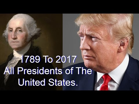 List Of All 45 Presidents Of The United States  1789  2017