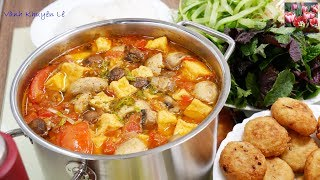 BÚN CHẢ CHAY / LẨU CHẢ CHAY - Bí quyết nấu Món BÚN Chay thơm ngon đặc biệt by Vanh Khuyen
