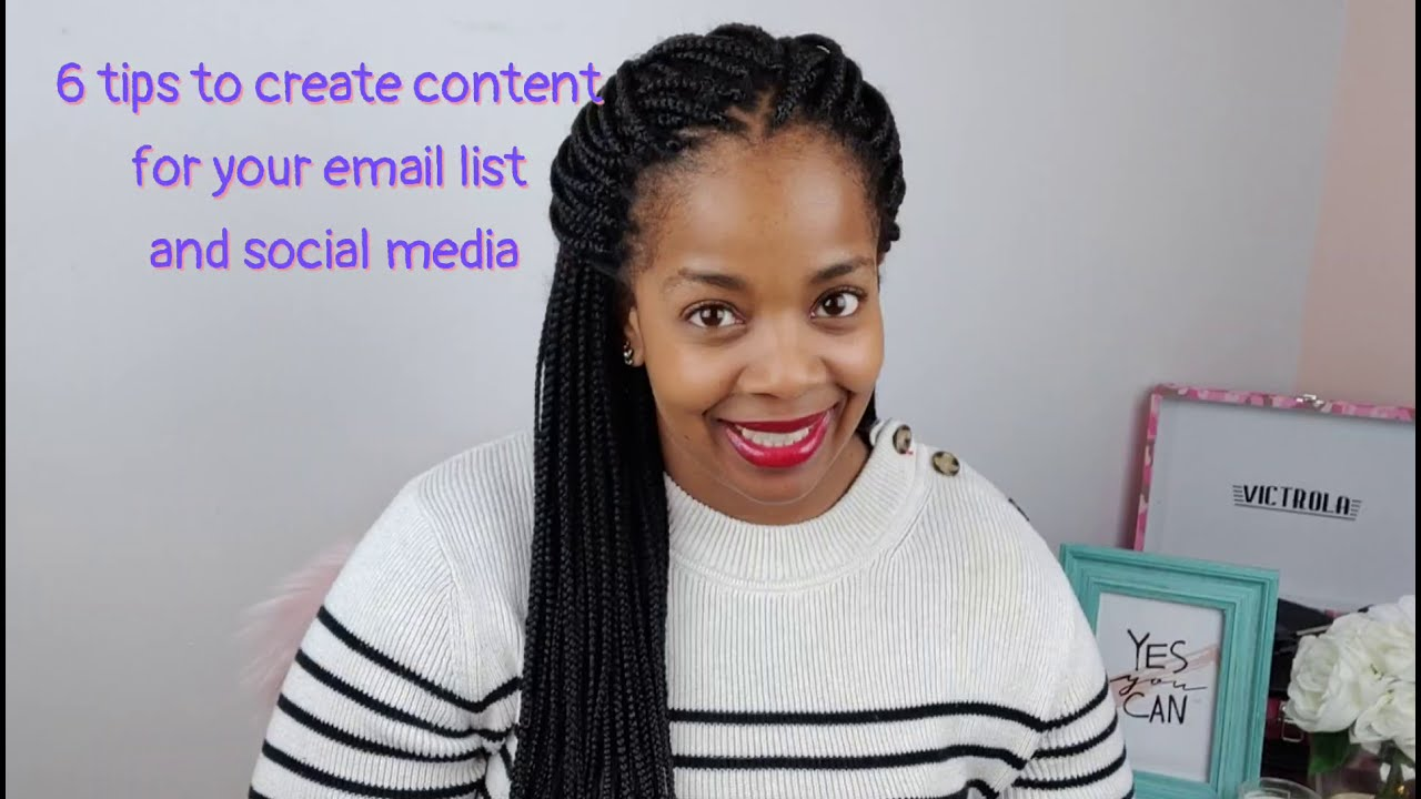 Six tips to create content for your email list