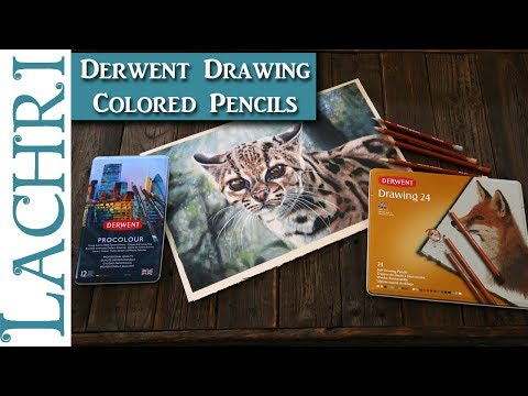 Derwent Drawing Colored Pencil Review & Demo w/ Procolour - Lachri