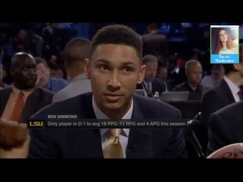 Ben Simmons Drafted By Philadelphia 76ers #1 Overall