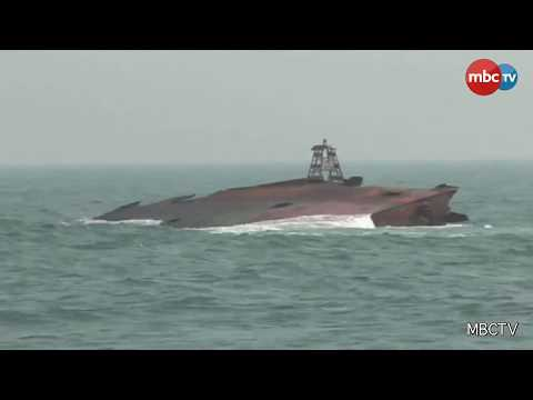 Sunken MV Black Rose Ship Yet To Dispose Off Paradip Coast
