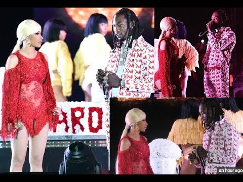 Offset Pulls up on Cardi B on stage to Apologize for Cheating and Begs for her to take him back! Mp3