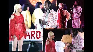 Offset Pulls up on Cardi B on stage to Apologize for Cheating and Begs for her to take him back!