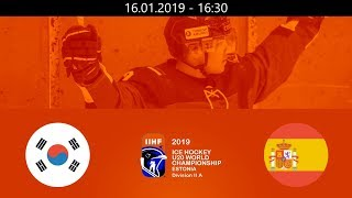 KOR Vs ESP   2019   HF WM20  A   Tallin Estonia – 16.01.2019
