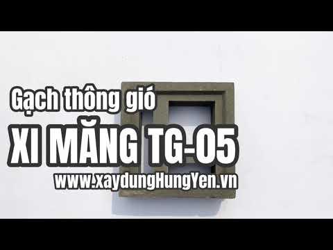 Gạch Thông Gió Xi Măng TG-05 | Gạch Bông Gió Tại Hưng Yên | Gạch ô Thoáng Xi Măng Tại Hưng Yên