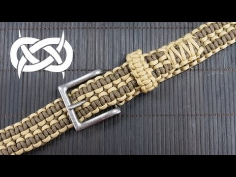 How to make a rattlerstrap wide solomon paracord belt for How to make a belt out of paracord