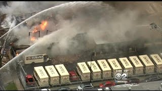 Fire Engulfs Garage At Turano Bakery In Western Suburbs