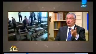 العاشرة مساء|رد فعل احمد زكى بدر على مهزلة مدرسة احمد لطفى السيد