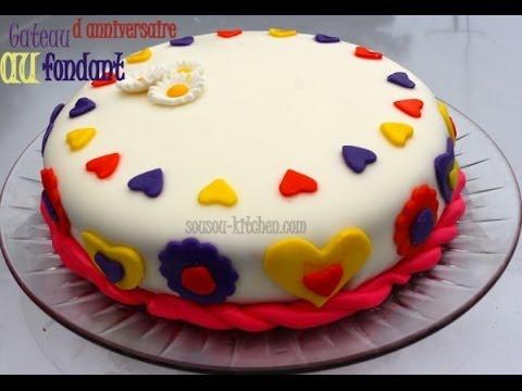 Recette De Gateau D 39 Anniversaire Au Fondant My Birthday Cake With Fondant Sousoukitchen Youtube