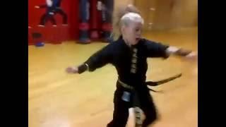 amazing Karate Shotokan of a little girl