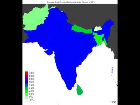 South Asia - Domestic Credit Provided By Financial Sector - Time Lapse