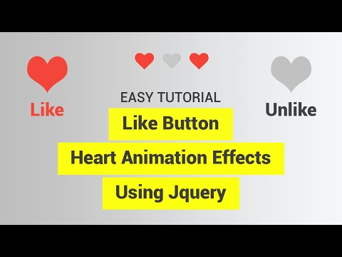 Easy tutorial to like button heart effects using jquery