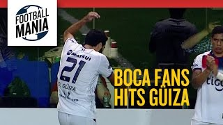 Boca Fans Throws Object in Daniel Güiza
