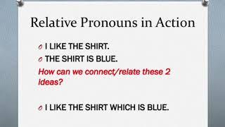 Using a Relative Pronoun Part 1