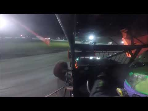Here is our first race in a winged 305 Sprint Car at Afton. The car was too loose on throttle in the middle of the corner, but not terrible for the first time out. - dirt track racing video image
