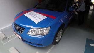 ComfortDelGro Taxi donated a decomissioned taxi to AMK THK Hospital